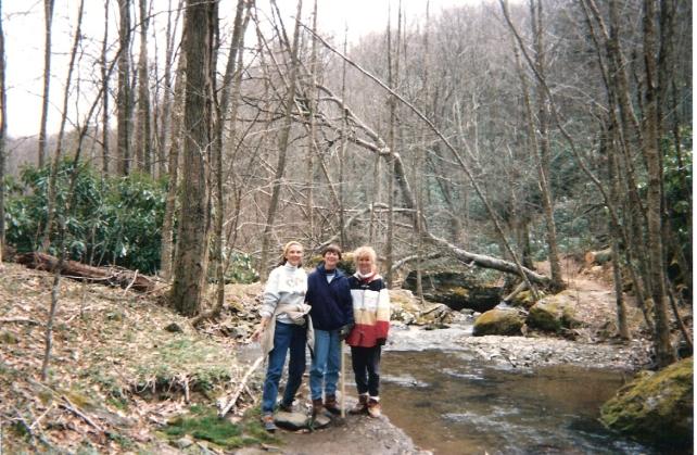 mom sal gail in woods