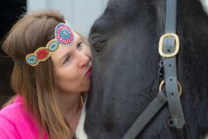 Horse Hippie-starburst headband-pink